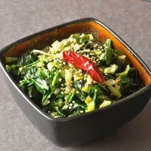 Spicy Vegetable Stir-Fry Recipe with Wakame