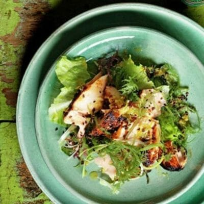 Grilled Salmon Recipe with Seaweed Salad