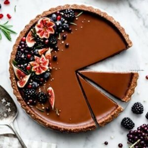 MeiYee Chocolate Panna Cotta Tart 400x