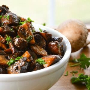 smoked mushrooms