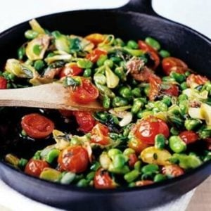 broad bean stir fry
